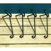 Hanging Basket Brackets for Concrete Fence Posts (Set of 4)