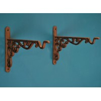 Cast Iron Decorative Hanging Basket Bracket 35cm (Set of 2)