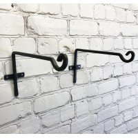 Metal Square Hanging Basket Brackets (29cm) Set of 2