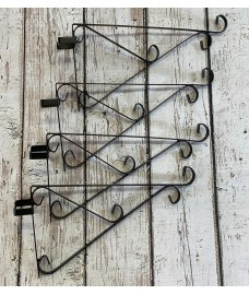 Ornate Hanging Basket Brackets for Concrete Fence Posts (Set of 4)
