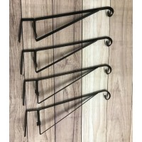 Hanging Basket Brackets for Wooden Fence Panels (Set of 4)