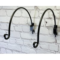 Set Of Two Adjustable Rotating Hanging Basket Bracket Hooks