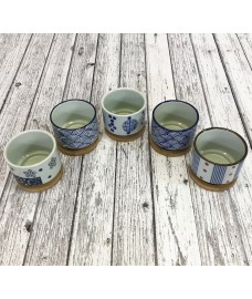 Round Ceramic Succulent and Cactus Pots (Set of 5)