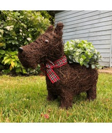 Scottie Dog Garden Planter