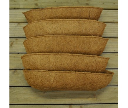 Pack of 5 Coco Wall Trough Planter Liner (60cm)