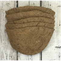 Pack of 5 Coco Wall Basket Planter Liner (30cm)