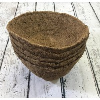 Pack of 5 Round Coco Hanging Basket Planter Liner (25cm)