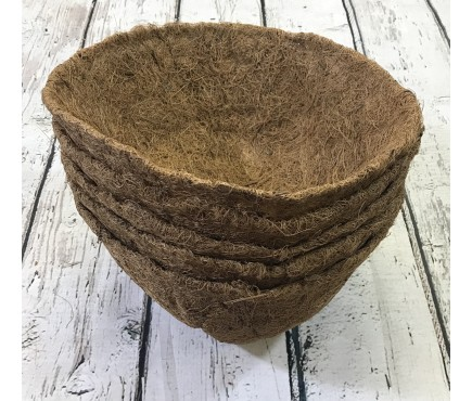 Pack of 5 Round Coco Hanging Basket Planter Liner (30cm)