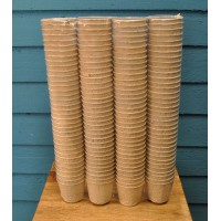 Round Fibre 5cm Plant Pots (Pack of 144) Biodegradable and Compostable