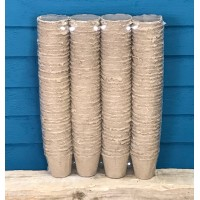 Round Fibre 8cm Plant Pots (Pack of 144) Biodegradable and Compostable