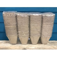 Square Fibre 8cm Plant Pots (Pack of 144) Biodegradable and Compostable