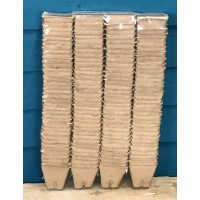 Square Fibre 5cm Plant Pots (Pack of 144) Biodegradable and Compostable