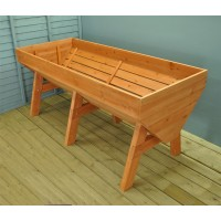 Veg-Trough Large Wooden Raised Vegetable Bed Planter