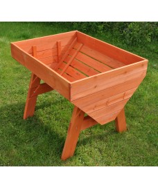 Veg-Trough Medium Wooden Raised Vegetable Bed Planter