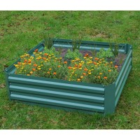 Metal Raised Vegetable Bed in Green (100cm x 30cm) - Damaged Box Stock