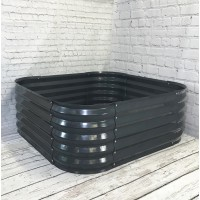 Metal Raised Bed Garden Planter in Dark Grey (120cm)