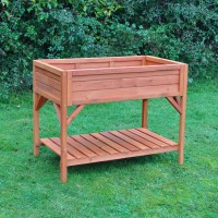 Wooden Raised Herb Planter