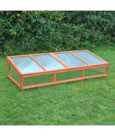 Polycarbonate Coldframe for Large Wooden Raised Vegetable Bed Planter