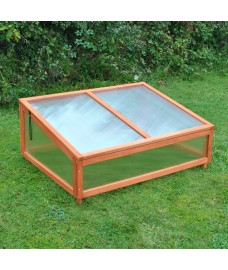 Polycarbonate Coldframe for Medium Wooden Raised Vegetable Bed Planter