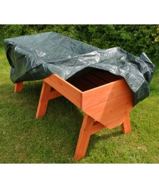 Veg-Trough Large Wooden Raised Vegetable Bed Planter with Waterproof Cover and Extra Planting Liner