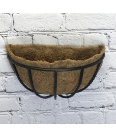 Manor Garden Black Metal Wall Basket Manger Hayrack Planter (40cm)