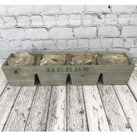 Wooden Herb Planter With Compost and Seeds