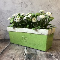 Green Ceramic Balcony Garden Planter