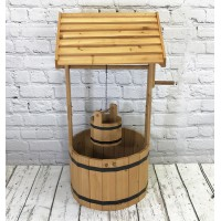 Large Wooden Wishing Well Garden Planter