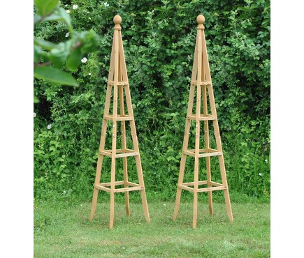 Set of 2 Wooden Garden Obelisks (1.5m)
