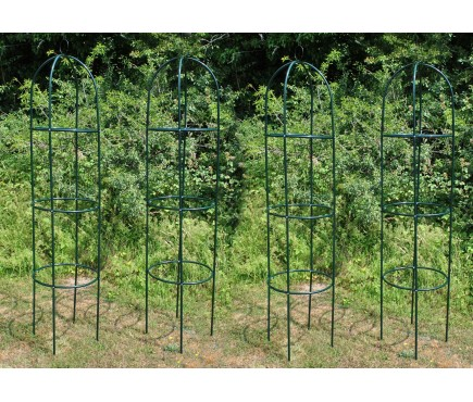 Set of 4 Metal Garden Obelisks