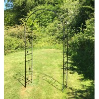 Metal Weatherbury Leaf Scroll Arch Garden Arch