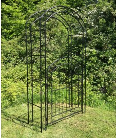 Metal Windsor Garden Arch with Gate and Fixing Pegs