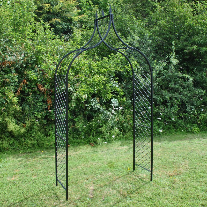Tuscan Metal Decorative Garden Arch with Ground Spikes
