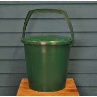 Green Plastic Compost Caddy Pail