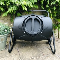 190 Litre Heavy Duty Garden Tumbling Composter with Free Cover