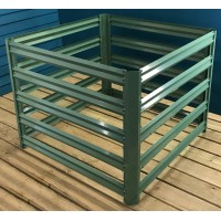 Metal Slatted Garden Composter in Green (90cm x 70cm)