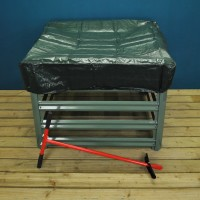 Metal Composter, Cover and Aerator Kit