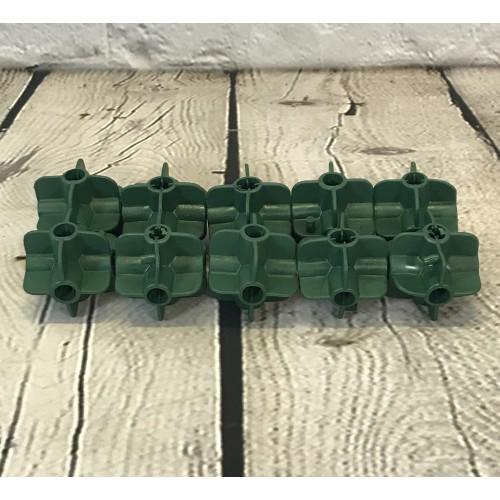 10 x Bamboo Cane Flexible Balls for Fruit Cage Connectors Netting Plant Support