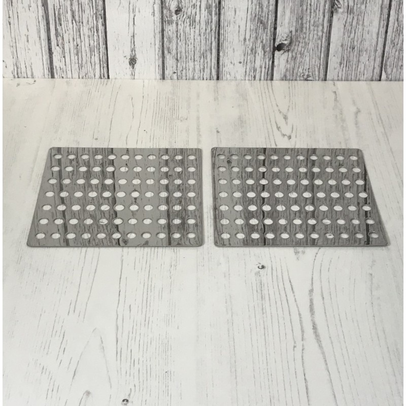 Stainless Steel Swirl Drain Covers Leaf Guard Drainage Covers (Set of 2)