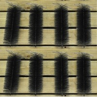 Set of 8 Black Drain & Gutter Downpipe Leaf Guard Plugs (30cm)