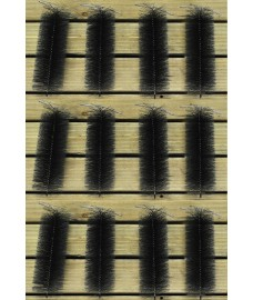 Set of 12 Black Drain & Gutter Downpipe Leaf Guard Plugs (30cm)