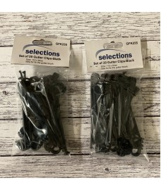 Gutter Brush Leaf Guard Fixing Clips (Pack of 40)