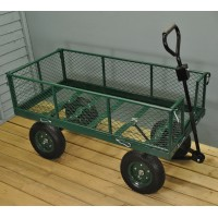 Heavy Duty 4 Wheel Garden Trolley (140cm)