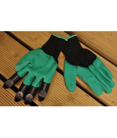 Garden Claw Digging and Weeding Gloves with Plastic Finger Ends