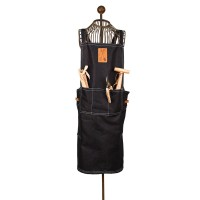 Long Cross Back Denim Garden Apron