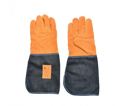 Denim Long Gardening Gloves