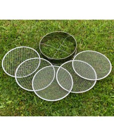 Stainless Steel Soil Sieve with 5 Interchangeable Filters