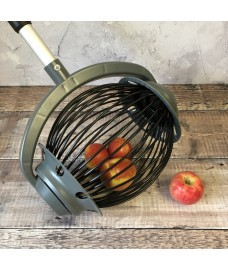 Rolling Apple Windfall Collector with Telescopic Handle and Bucket Clip