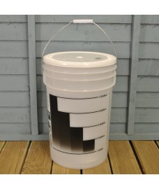 Plastic 25 Litre Beer Fermentation Bucket (5 Gallons)