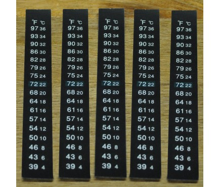 Stick on Self Adhesive LCD Thermometers (Pack of 5)